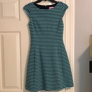 Lilly Pulitzer navy and mint striped dress